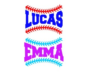 Personalized Baseball Decal , Personalized Softball Decal , Baseball Name Decal, Softball Name Decal, Water Bottle Dec+al, Helmet Decal