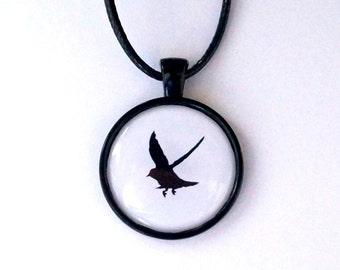 Flying Bird-scissors cut bird necklace