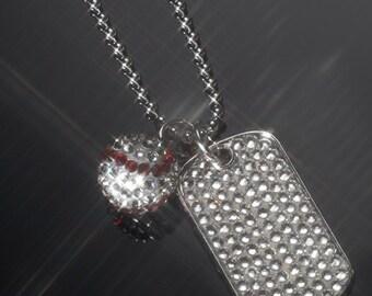 Custom Crystal Sports Jewelry
