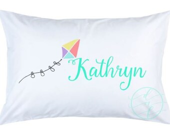 Personalized Custom Spring Summer Kite Pillowcase