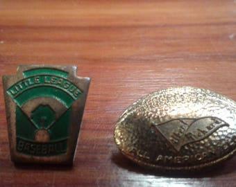 Vintage Sports Pins-Baseball and Football