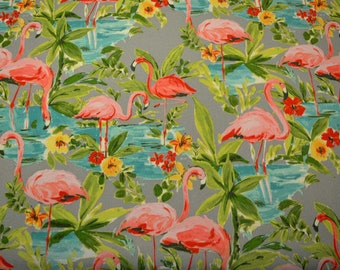 Flamingoin Platinum Waverly Fabric