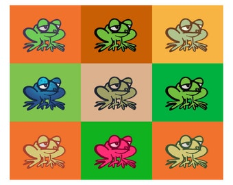 Frogs Tiled