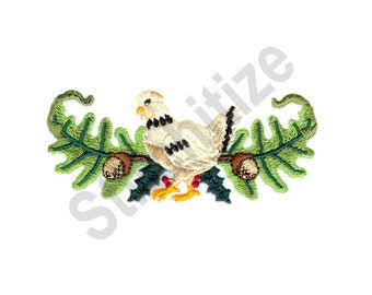 Three French Hens - Machine Embroidery Design, Christmas Chicken