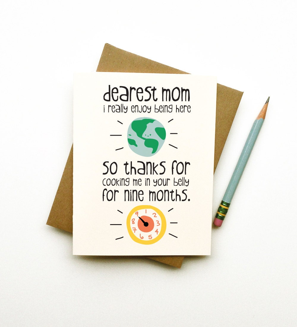 Thanks for cooking me mom card mothers day birthday funny cute zoom bookmarktalkfo Choice Image