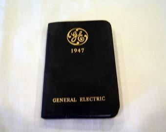 General Electric Diary, c. 1947 advertising give away ephemera