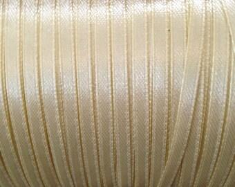 1 meter Ribbon 4 mm beige satin ❤ ❤