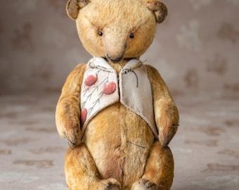 teddy bear pattern, OOAK Artists Teddy Bear pattern,  pdf pattern, waistcoat pattern, plush bear,soft toy pattern
