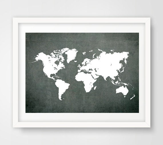 World map print map poster map of the world modern wall gumiabroncs Images