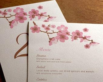 Hana Menu, Table Marker & Place Card Set
