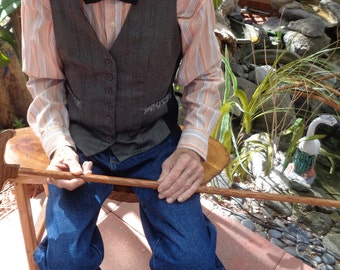 Cherry Stain Design Artisan Made Walking Cane and Cane Holder Attachment