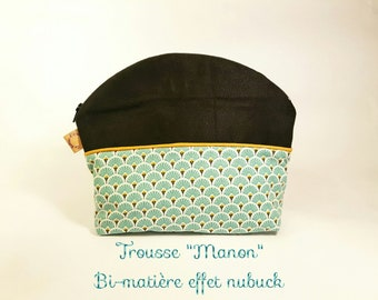 Clutch makeup case, toiletry bag, blue, turquoise