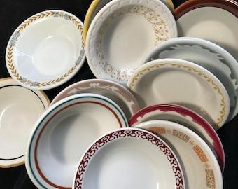 Vintage Restaurant ware, small bowl, variety, set of twelve