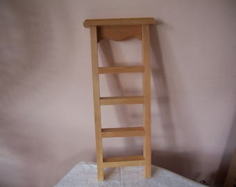 "Unfinished Wood Ladder Shelf - 20 3/4"" Tall"