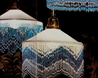 High Quality Beaded Lampshade Trims ... Beaded Pendant Lightshades ... Bright Colourful  Unique .