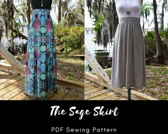 The Sage Skirt - PDF Sewing Pattern XS-XXL
