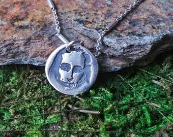 Silver pendant with the image of Mahavatar Babaji. Art Clay Silver Pendant. Perfect gift.