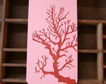 coral letterpress notebook jotter
