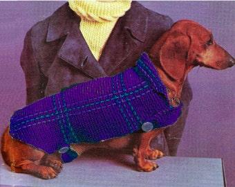 PDF Dog Blanket Coat Knitting Pattern Instructions K13 PDF