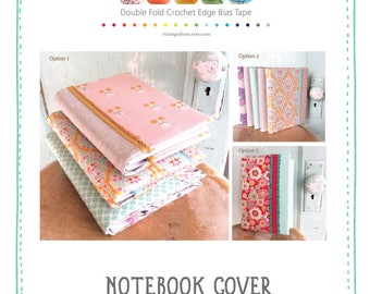 NEW Blank Journal and Cover Sewing Pattern.  Sewing Pattern.  Bullet Journal. Notebook. Paper. Gift Idea. Book Cover.  DIY Journal and Cover