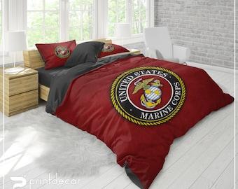 Navy Bedding Etsy