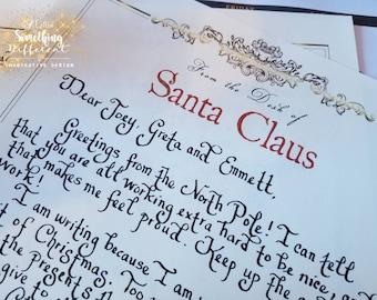 North pole letter etsy letter from santa custom letter from santa letters from the north pole christmas spiritdancerdesigns Choice Image