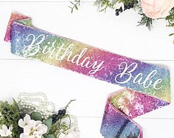 Birthday Sash - Birthday Party - Birthday Party Accessories - Sequin Sash - Birthday Babe