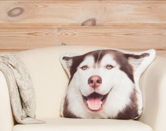 Husky Pillow, siberian husky, plush dog pilow, stuffed dog pillow, stuffed animal dog, dog cushion, husky dog, stuffed animal lover