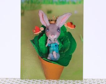 "Postcard 148 X 105 mm, ""you're cute Bunny!"""