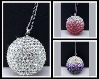 Car Rear View Mirror Hanging Ornament Charm, Crystal Ball Ornaments For Car  U0026 Home Decor