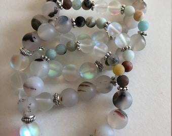 Moonstone bead bracelet, boho bracelet, gifts for her, fresh spring accessory