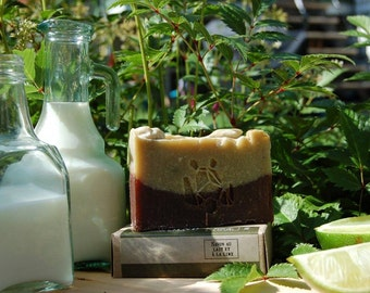 Lime and coconut milk SOAP