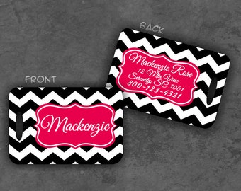 Personalized Luggage Tag Monogram Luggage Tag Personalized Gift Monogram Gift Travel Gift Personalized Gift Custom Luggage Tag Chevron