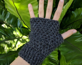 Crochet gloves, fingerless, alpaca, pure wool, no acrylic, knitted, warm, winter clothing, hobo gloves, mens gloves, womens gloves