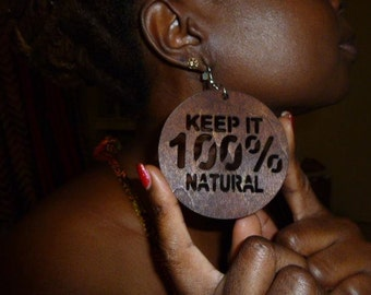 Keep It 100% Natural  Dangle and Drop  Earrings