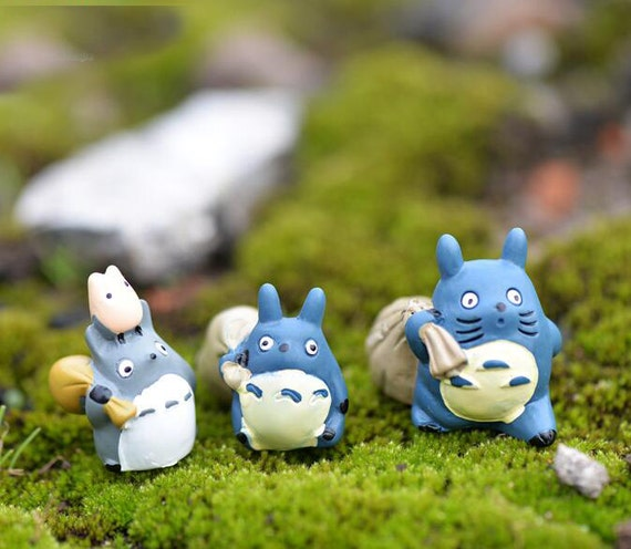 3pc My Neighbor Totoro Carrying Bag Figure Toy Miniature Fairies Fairy Garden  Accessories Terrarium Supplier Outdoor Decor From Overspeed On Etsy Studio