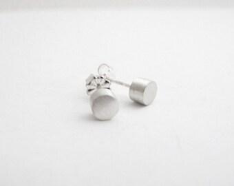 Circle Stud Earrings, Mens Earrings, Silver Studs, Mens Jewelry, Sterling Silver Circle Studs, Everyday Studs