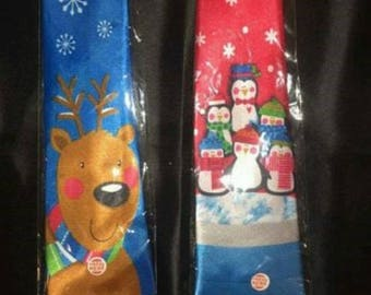 Festive Christmas Ties that play Jingle Bells Music with a push of a button