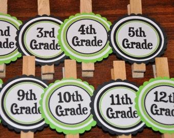 Graduation Photo Clips. Photo Clips. Graduation. Grad. Set of 13. Kindergarten-12th Grade. Choose your colors