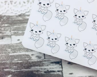 Sad Fox Sticker | Character Sticker | Foxy Fox Series | K095