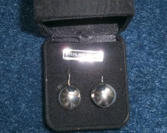 Sterling Silver Leaver Back Earrings