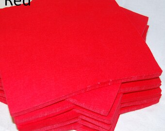 RED SHADES - Craft Felt Fabric Material - Choice of Colours and Lengths - for Crafting, and Soft Toy Making