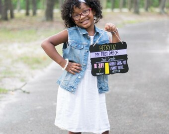 First Day of School Chalkboard Reusable, Back to School Sign, Last Day of School Sign