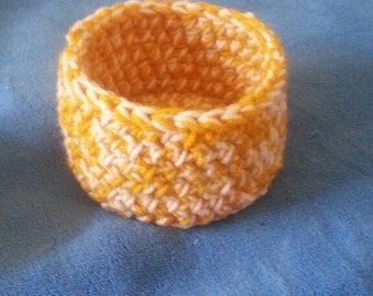 Crochet Bowl Container Birdnest Bowl Small Free Shipping