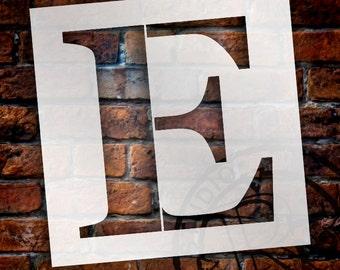 E -Monogram Letter Stencil - Select Size - STCL1718 - by StudioR12