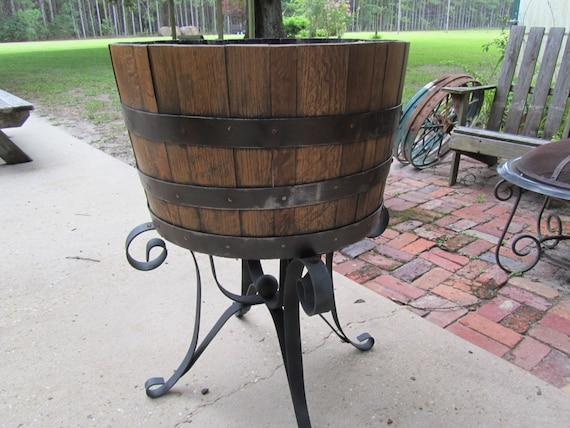 Whiskey barrel wood furniture
