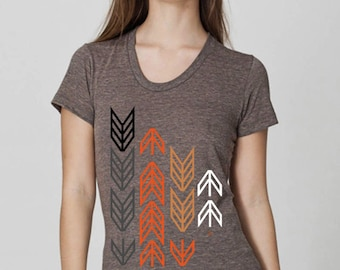 Arrows  by Chill Clothing on American Apparel Tri Coffee
