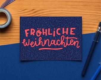 Folded Card – Fröhliche Weihnachten – A6