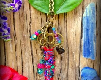 Boho Necklace; Key Pendant; Hippie Necklace; Bohemian Necklace; Long Hippie Necklace; Key Necklace; Gypsy Necklace; Australian Seller