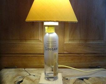 Bottle lamp GinRaw, desk lamp, decoration lamp, gin lamp,